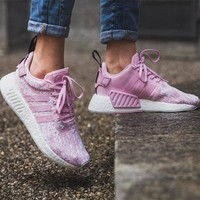 Best Online Sale Adidas NMD R2 Wonder Pink/Wonder Pink/Core Black Boost Sport Running Shoes Classic Casual Shoes Sneakers
