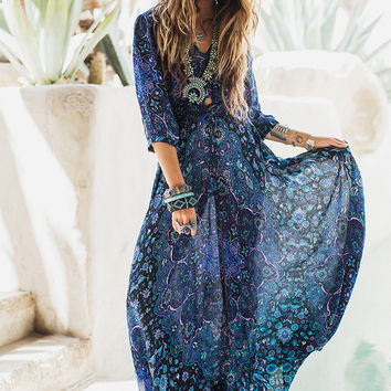 Pre-Order // Kiss the Sky Gown - Bluejay