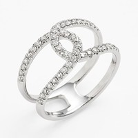 Women's Bony Levy 'Knot' Diamond Cocktail Ring (Nordstrom Exclusive)