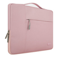MOSISO for Macbook Pro 13 with/without Touch Bar Polyester Fabric Laptop Sleeve Briefcase Handbag for 12.9-13.3 inch Notebook