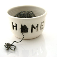 HOME yarn bowl, gift for mom, mothers day, ceramics and pottery, knitting supplies, crochet, gift for maker - Edit Listing - Etsy