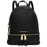 Rhea Small Leather Backpack | Michael Kors