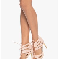 All Stringed Up Laced Up Heels | $12.50 | Cheap Trendy Heels and Pumps Chic Discount Fashion for Wo