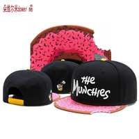 new black pink trend  hip hop CS notch Snapback caps high quality the munchies gorras cotton adjustable men women baseball cap