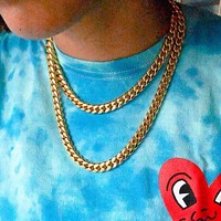 Gold Miami Cuban Link Necklace (10mm) in Yellow Gold