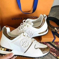 LV Louis Vuitton Fashion Woman Casual Print Sneakers Shoes I