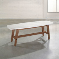Walmart: Sauder Faux Marble Soft Modern Coffee Table, Fine Walnut