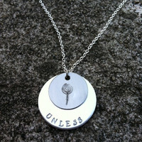 "Dr. Seuss The LORAX inspired ""Unless"" quote handstamped necklace"