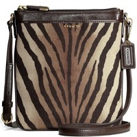 COACH MADISON SWINGPACK IN ZEBRA PRINT FABRIC