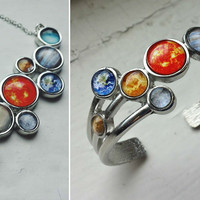 PREORDER - Solar System Cuff Bracelet and/or Bib Necklace