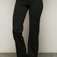 Casual Straight Leg Yoga Pants Black