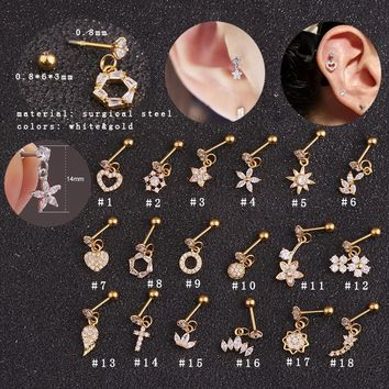 Gold Stainless Steel Earring Studs