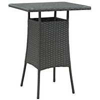 Chocolate Sojourn Small Outdoor Patio Bar Table