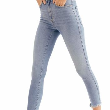Free People - Raw High Rise Jeggings - Sierra/Denim Wash
