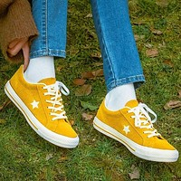 Converse Statr Fashion Canvas Flats Sneakers Sport Shoes Yellow