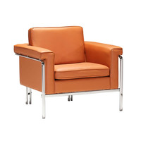 Contemporary Lounge Chair in Terracotta