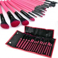 16Pcs Professional Makeup Brushes Cosmetic Tool Brush Set Kit + Leather Case BE