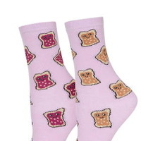 Peanut Butter and Jelly Socks - Pink
