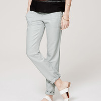 Twill Relaxed Cropped Pants   LOFT