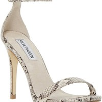 STEVE MADDEN - Stecy reptile-print heeled sandals | Selfridges.com