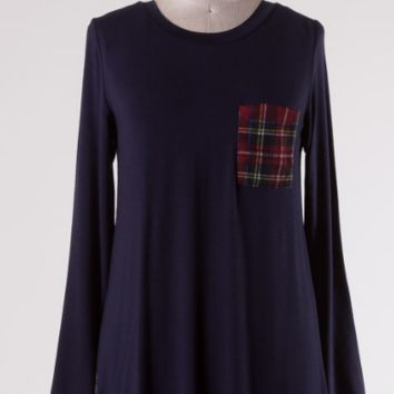 Perfect Plaid Baby Doll Top