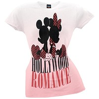 Mickey Mouse - Hollywood Romance Juniors T-Shirt