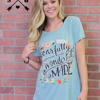 Fearfully, Wonderfully Made on Turquoise Short Sleeve