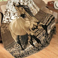 "Buckskin Horse Throw Blanket (Large: 63"" x 73"") - Super Soft"