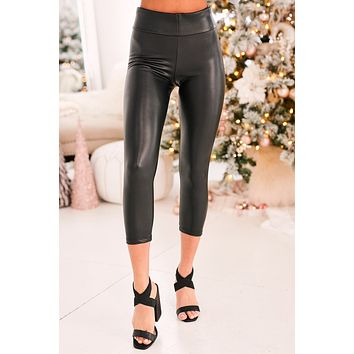 Down To Ride Faux Leather Pants (Black)