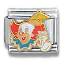 BOZO the CLOWN with Circus Umbrella Officially Licensed Italian Charm