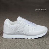 """New balance""Running shoes leisure shoes gump sneakers lovers shoes n words pure white"
