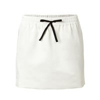 Zadig & Voltaire - Mesh Drawstring Mini-Skirt in White