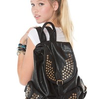 Brandy ♥ Melville    Gold Studded Leather Buckle Backpack - Backpacks - Bags - Accessories