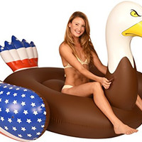 Inflatable Pool Floats Bald Eagle Pool Raft, 6.5 Ft