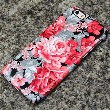 Red Roses Floral iPhone XR Tough Case iPhone XS Max plus Case iPhone 5 Case Galaxy Case 3D 018