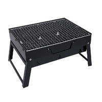 Household portable black steel stove stainless stove charcoal stoves burn small folding barbecue grill Commercial