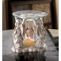 Happy Standing Buddha Tealight Candle Oil Warmer