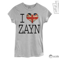 I Love Zayn Malik TShirt - One Direction Shirt - 054