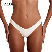 CALOFE 2018 Women Swim Shorts Brief Bottom Surfing Diving Sexy Tops Solid Beachwear Swimwear Bikini Set Bathing Suit Plus Size