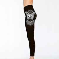 Mandala Moth Leggings