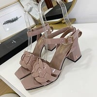 ysl women casual shoes boots fashionable casual leather women heels sandal shoes 222