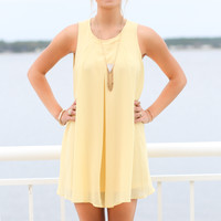 Alpine Nights Yellow Sleeveless Layer Dress