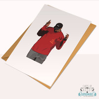 Kanye West TLOP Pablo Yeezy Season Yeezus Typography Love Card Stock Birthday Anniversary Card