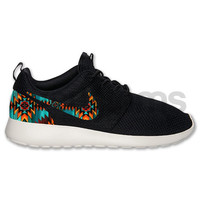 Nike Roshe Run Black White Aztec Triabl Print Custom