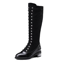 Studded Tall Boots Winter Shoes for Woman 8959