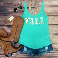 Y'ALL TANK IN MINT – LaRue Chic Boutique