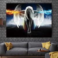 home decor Wall Picture Canvas Painting Wall art picture print  Angel and Demon  decor poster canvas painting Wall art  no frame