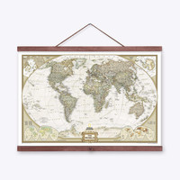 Vintage Retro Geography World Map A4 Large Art Print Poster Shabby Chic Wall Picture Canvas Painting No Frame Library Home Decor