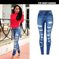 Denim Slim Stretch Fashion Hot Sale Skinny Pants [10734934479]