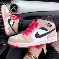NIKE Air Jordan 1 AJ1 Mid casual sports basketball shoes